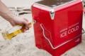 Retro-koelbox-rood-werking
